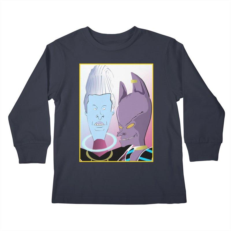 Lord Beavis and Whis-Head Kids Longsleeve T-Shirt by TheImaginativeHobbyist's Artist Shop