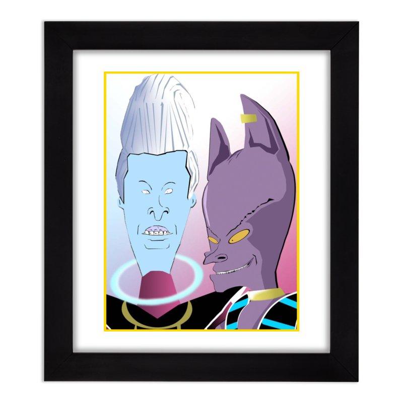 Lord Beavis and Whis-Head Home Framed Fine Art Print by TheImaginativeHobbyist's Artist Shop