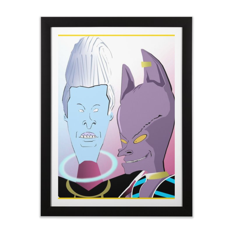 Lord Beavis and Whis-Head Home Framed Fine Art Print by TheImaginativeHobbyist's Artist Shop