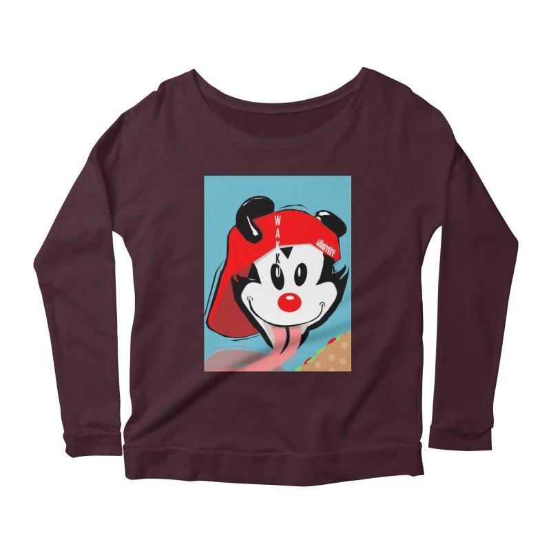 Wakko Women's Scoop Neck Longsleeve T-Shirt by TheImaginativeHobbyist's Artist Shop