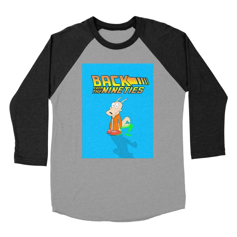 Back From The Nineties  Men's Baseball Triblend Longsleeve T-Shirt by TheImaginativeHobbyist's Artist Shop