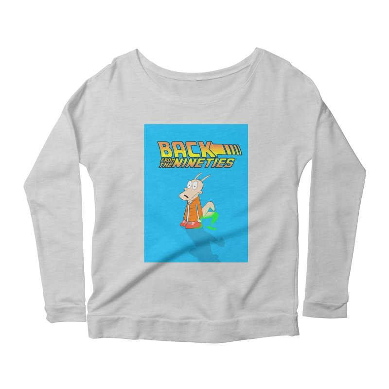 Back From The Nineties  Women's Scoop Neck Longsleeve T-Shirt by TheImaginativeHobbyist's Artist Shop