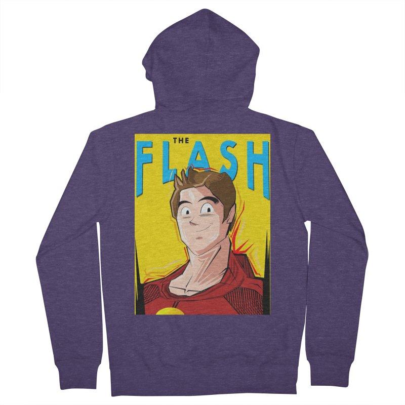 Dragonball Flash  Men's French Terry Zip-Up Hoody by TheImaginativeHobbyist's Artist Shop