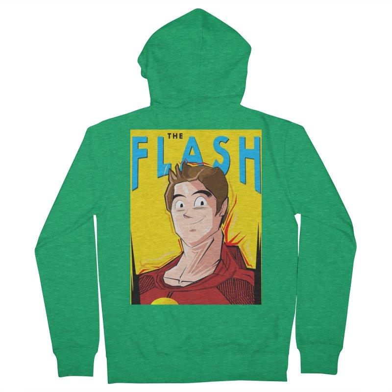 Dragonball Flash  Men's Zip-Up Hoody by TheImaginativeHobbyist's Artist Shop