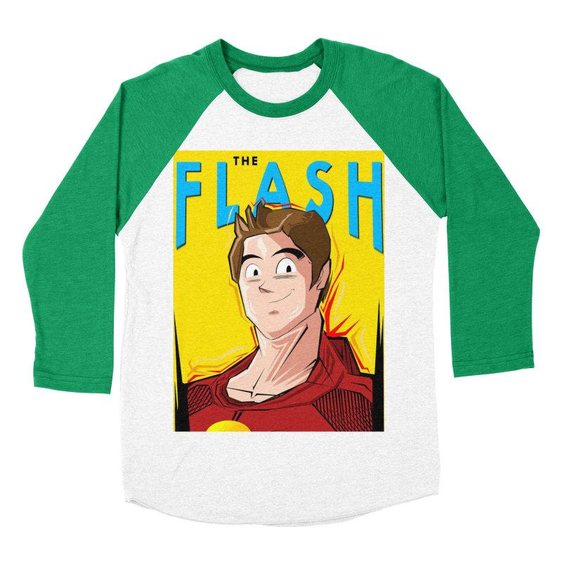 Dragonball Flash  Men's Baseball Triblend Longsleeve T-Shirt by TheImaginativeHobbyist's Artist Shop