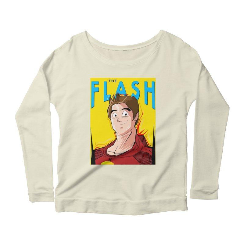 Dragonball Flash  Women's Scoop Neck Longsleeve T-Shirt by TheImaginativeHobbyist's Artist Shop