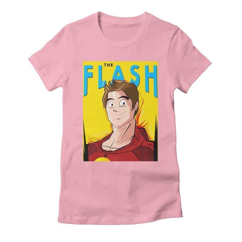 Dragonball Flash  Women's Fitted T-Shirt by TheImaginativeHobbyist's Artist Shop