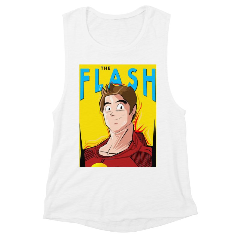 Dragonball Flash  Women's Muscle Tank by TheImaginativeHobbyist's Artist Shop
