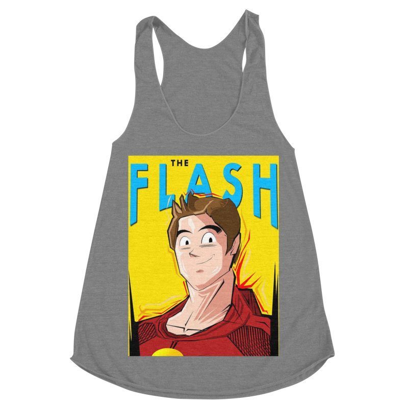 Dragonball Flash  Women's Racerback Triblend Tank by TheImaginativeHobbyist's Artist Shop