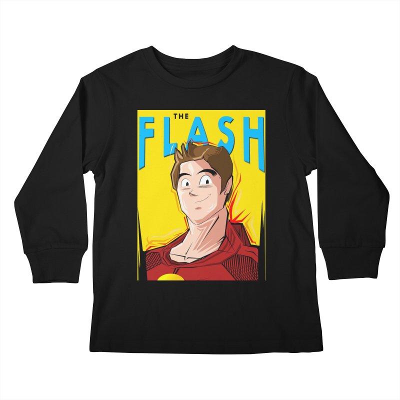 Dragonball Flash  Kids Longsleeve T-Shirt by TheImaginativeHobbyist's Artist Shop