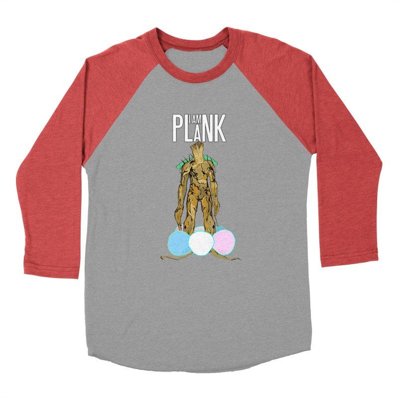 I AM PLANK Men's Baseball Triblend Longsleeve T-Shirt by TheImaginativeHobbyist's Artist Shop