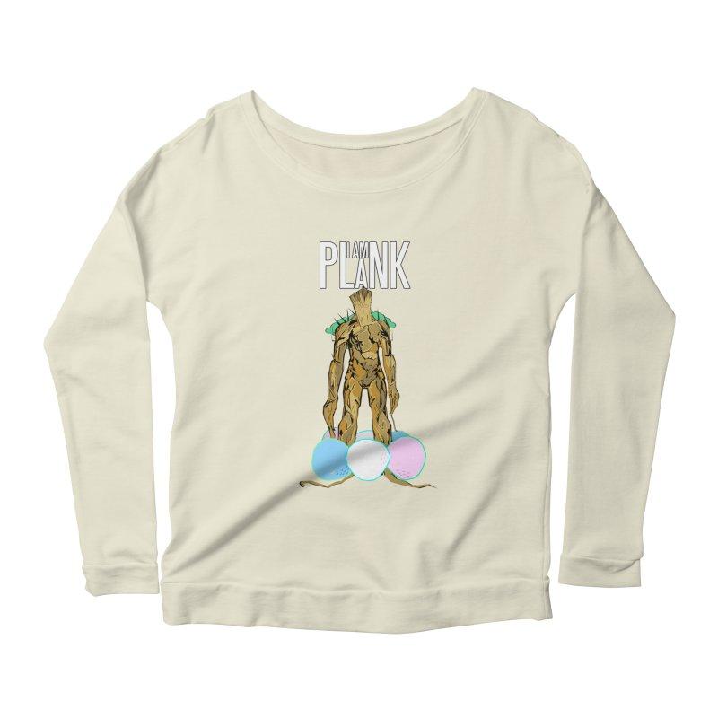 I AM PLANK Women's Scoop Neck Longsleeve T-Shirt by TheImaginativeHobbyist's Artist Shop