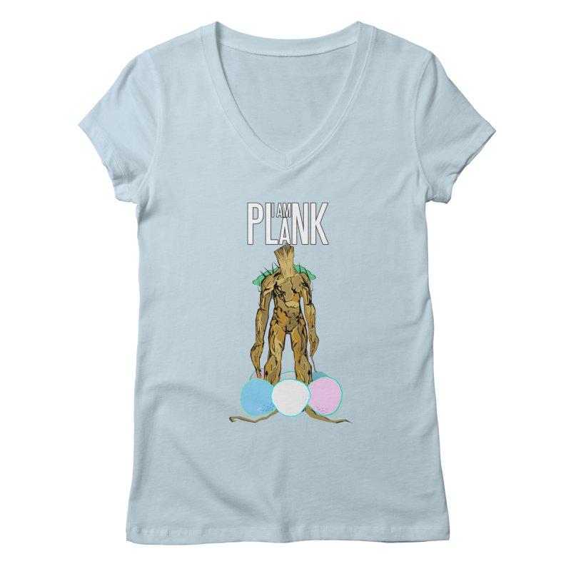 I AM PLANK Women's Regular V-Neck by TheImaginativeHobbyist's Artist Shop