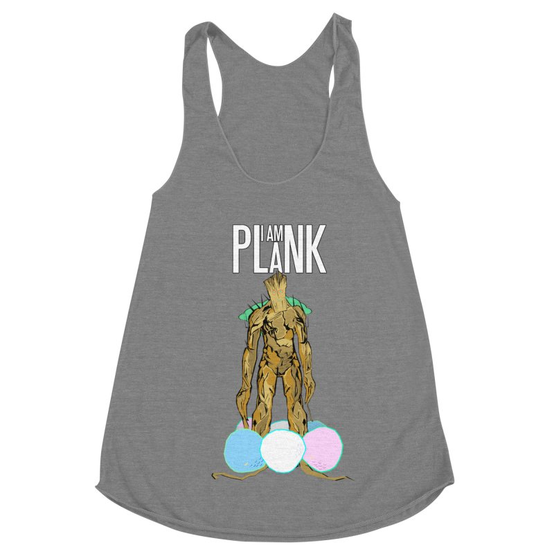 I AM PLANK Women's Racerback Triblend Tank by TheImaginativeHobbyist's Artist Shop