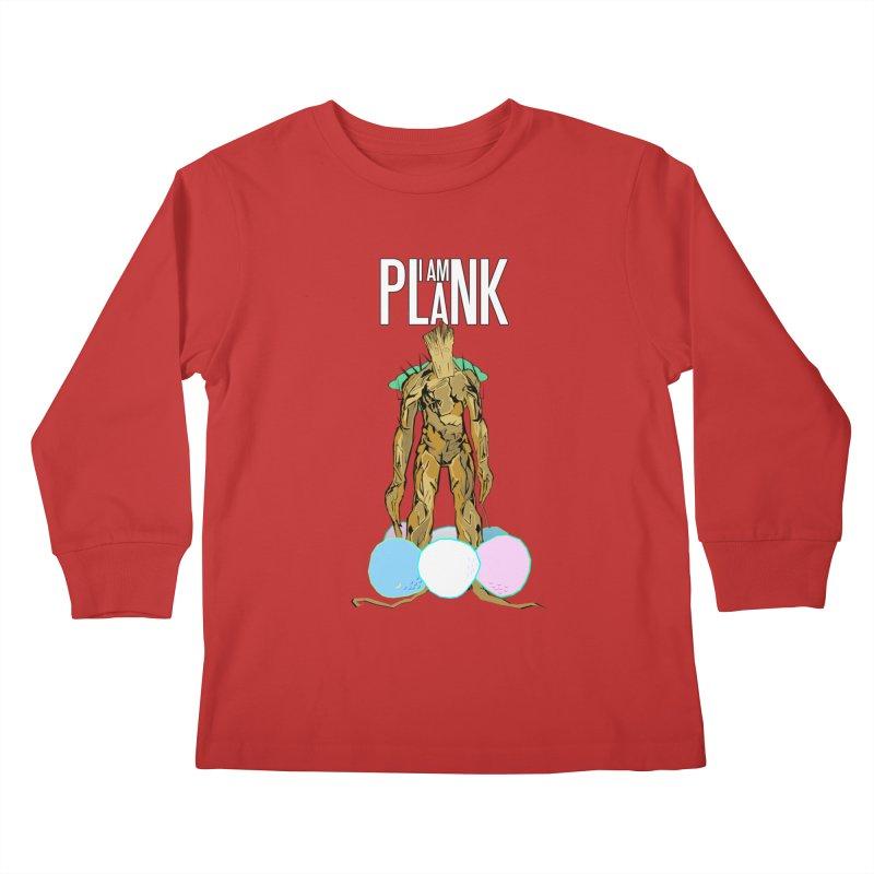 I AM PLANK Kids Longsleeve T-Shirt by TheImaginativeHobbyist's Artist Shop