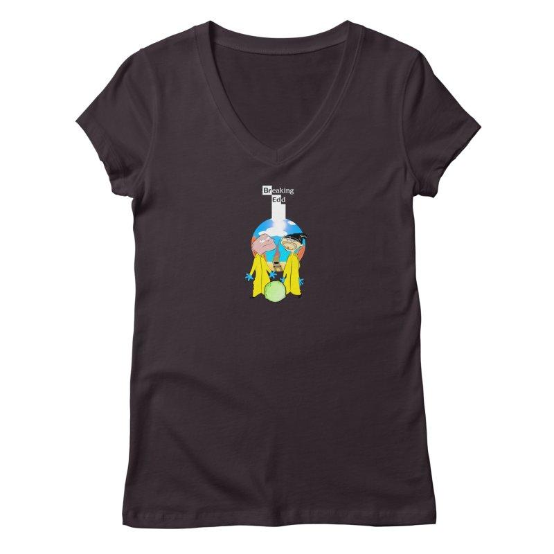 Breaking Edd Women's Regular V-Neck by TheImaginativeHobbyist's Artist Shop