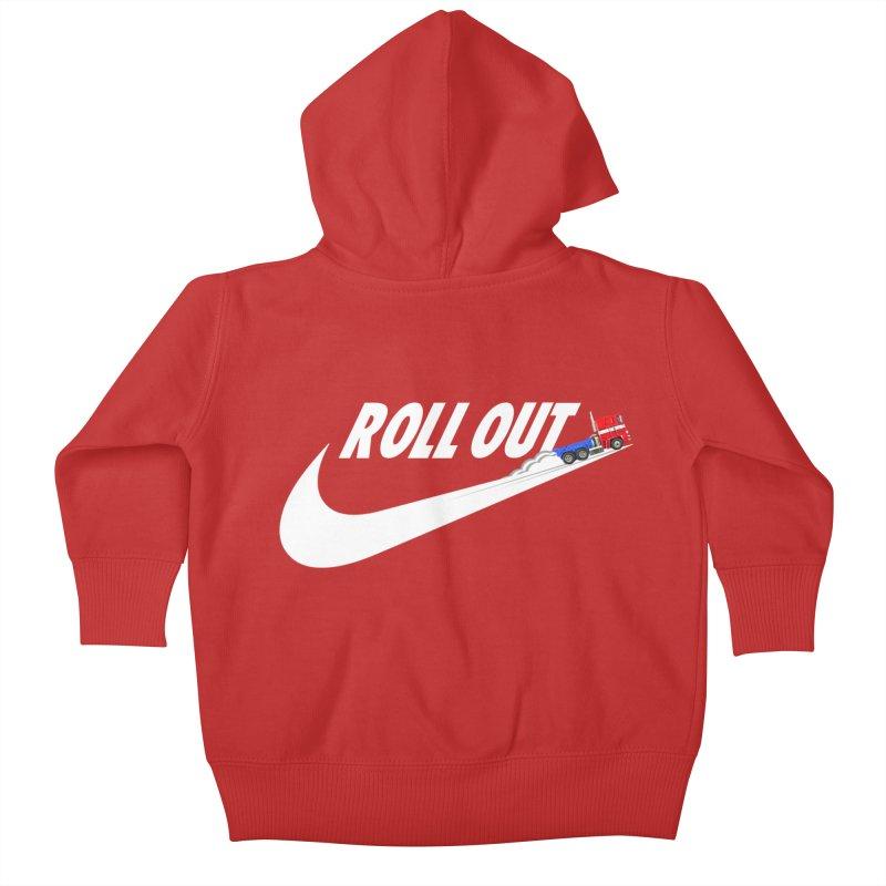 Roll Out Kids Baby Zip-Up Hoody by TheImaginativeHobbyist's Artist Shop