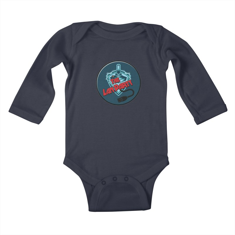 The Lan Party! Kids Baby Longsleeve Bodysuit by The Lan Party Talk Show