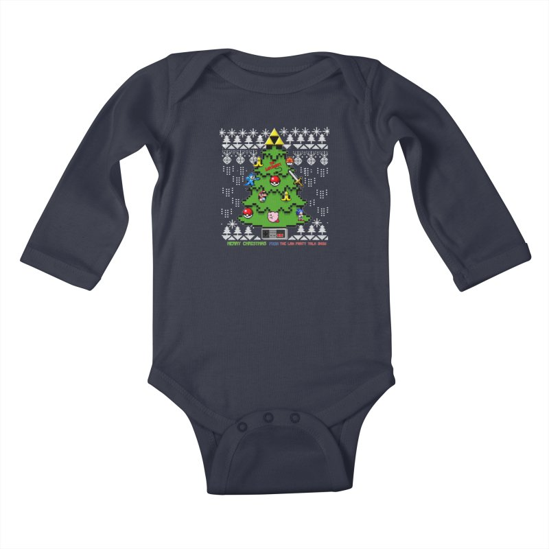 Retro Holiday shirt Kids Baby Longsleeve Bodysuit by The Lan Party Talk Show