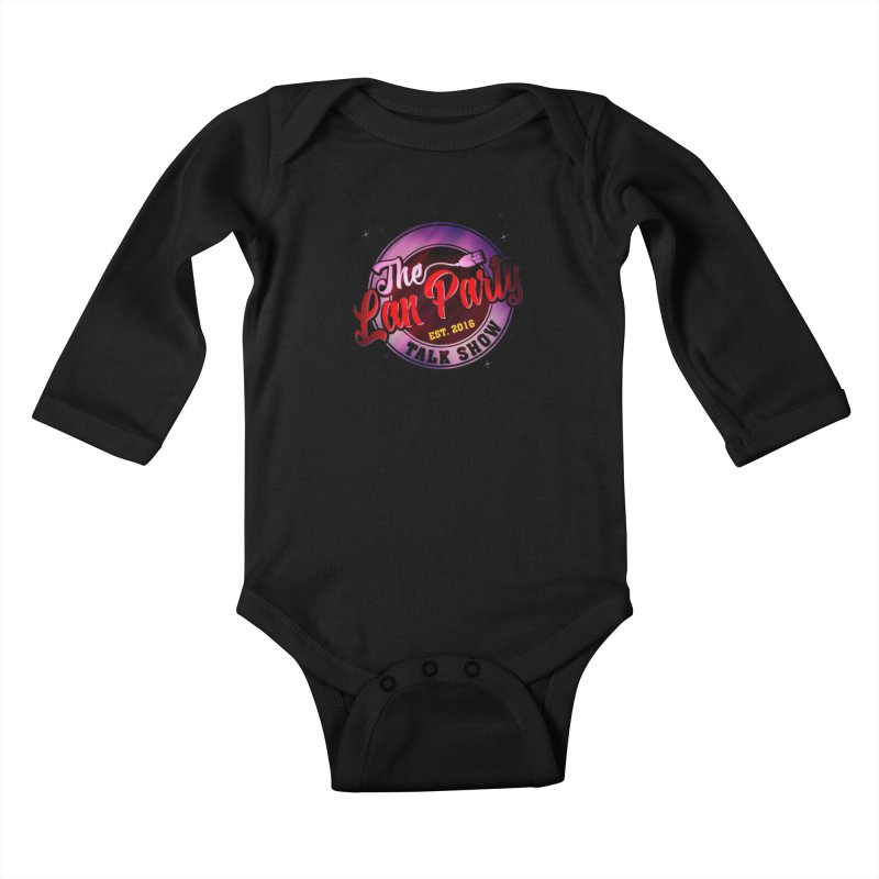 Space Version2 Kids Baby Longsleeve Bodysuit by The Lan Party Talk Show