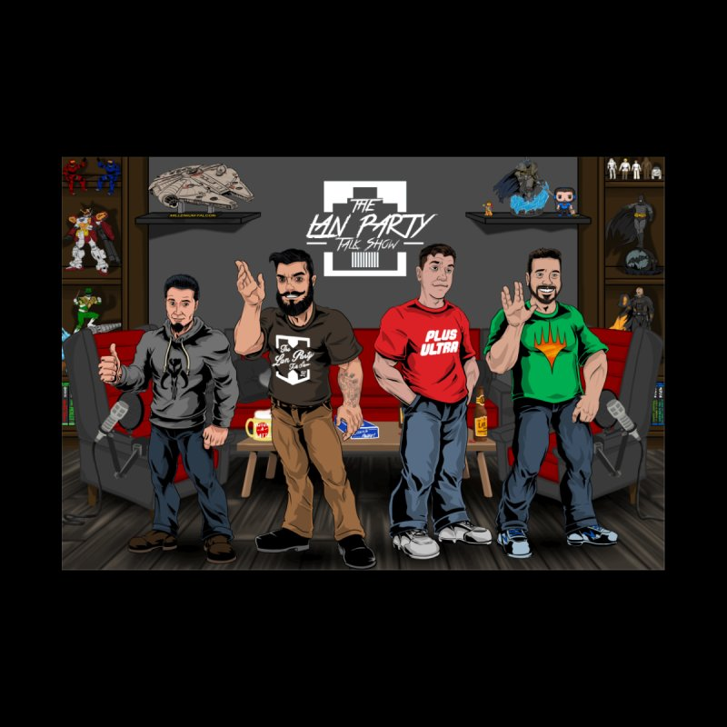 Four dudes Men's T-Shirt by The Lan Party Talk Show