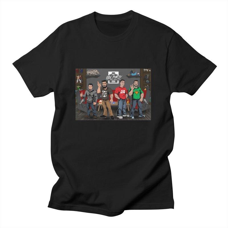 Four dudes Men's T-Shirt by The Lan Party Talk Show
