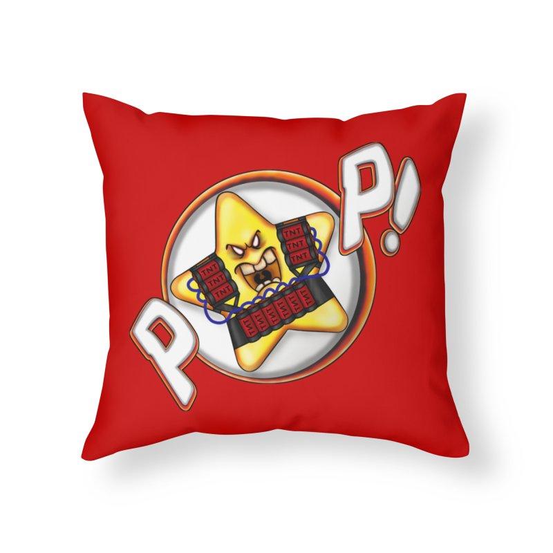 Pop Star! Home Throw Pillow by The Last Tsunami's Artist Shop