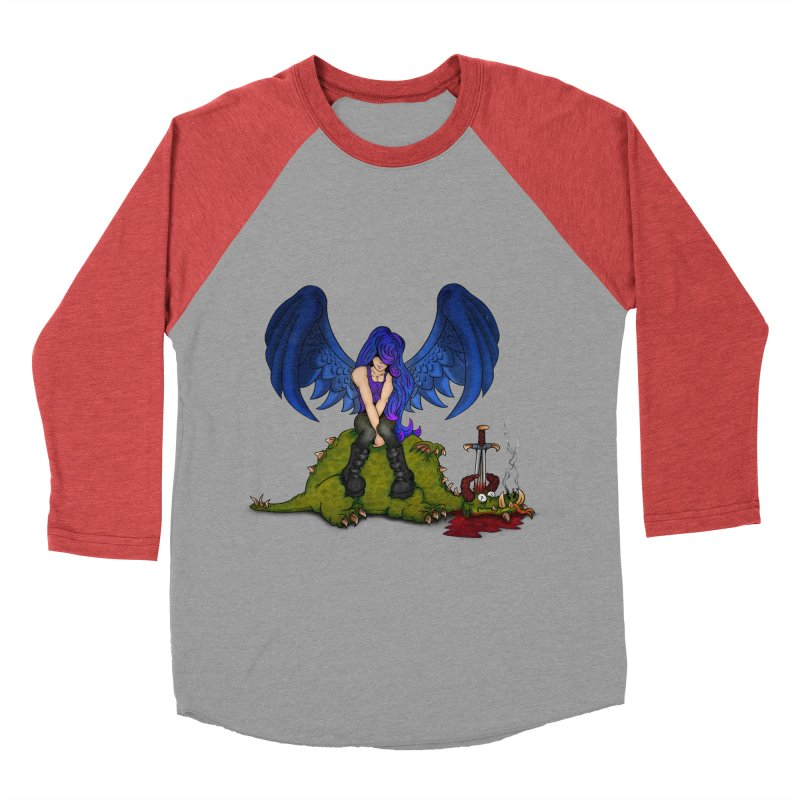 Daddy´s Little Angel Women's Baseball Triblend T-Shirt by The Last Tsunami's Artist Shop