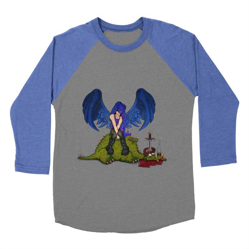 Daddy´s Little Angel Men's Baseball Triblend T-Shirt by The Last Tsunami's Artist Shop