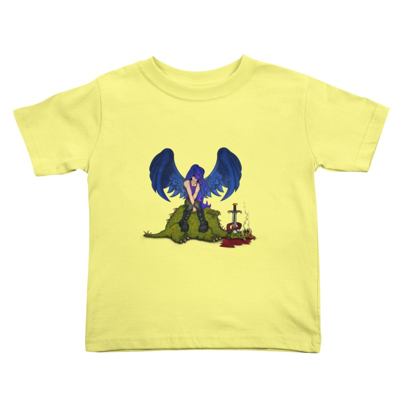 Daddy´s Little Angel Kids Toddler T-Shirt by The Last Tsunami's Artist Shop