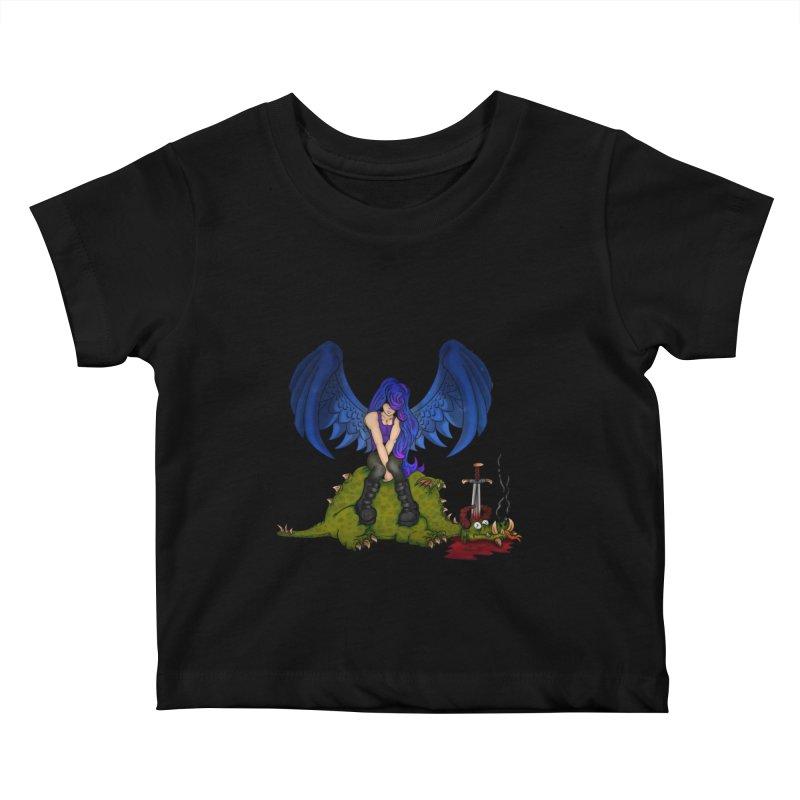 Daddy´s Little Angel Kids Baby T-Shirt by The Last Tsunami's Artist Shop