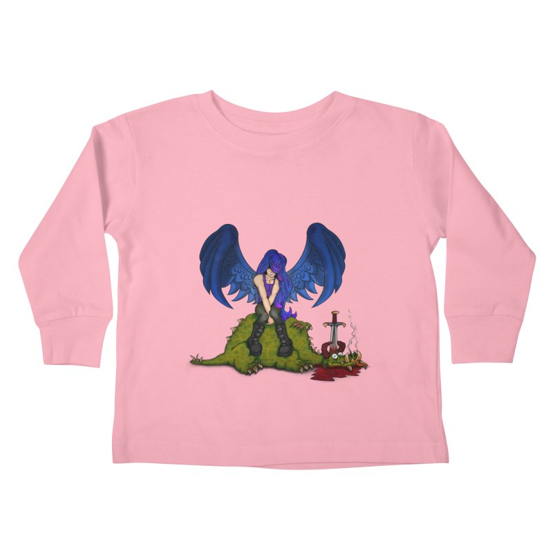 Daddy´s Little Angel Kids Toddler Longsleeve T-Shirt by The Last Tsunami's Artist Shop