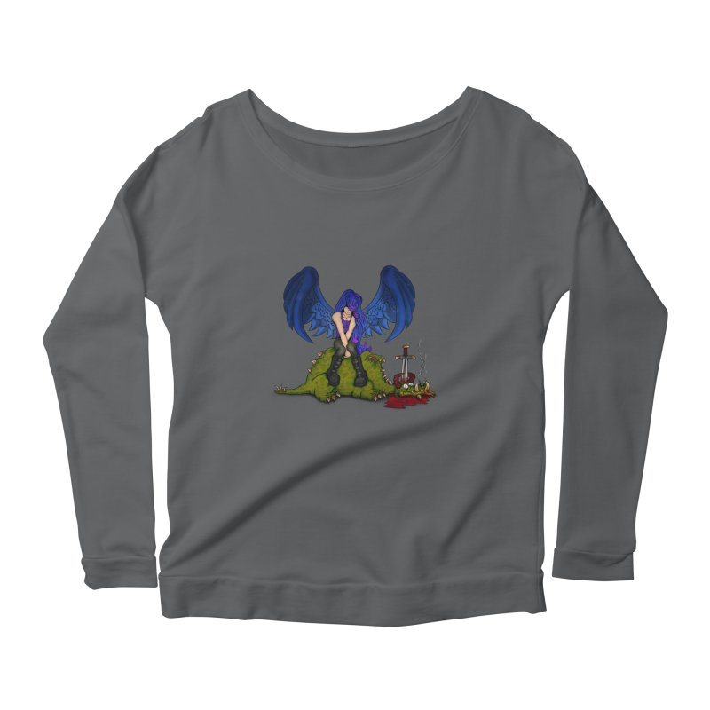 Daddy´s Little Angel Women's Longsleeve Scoopneck  by The Last Tsunami's Artist Shop
