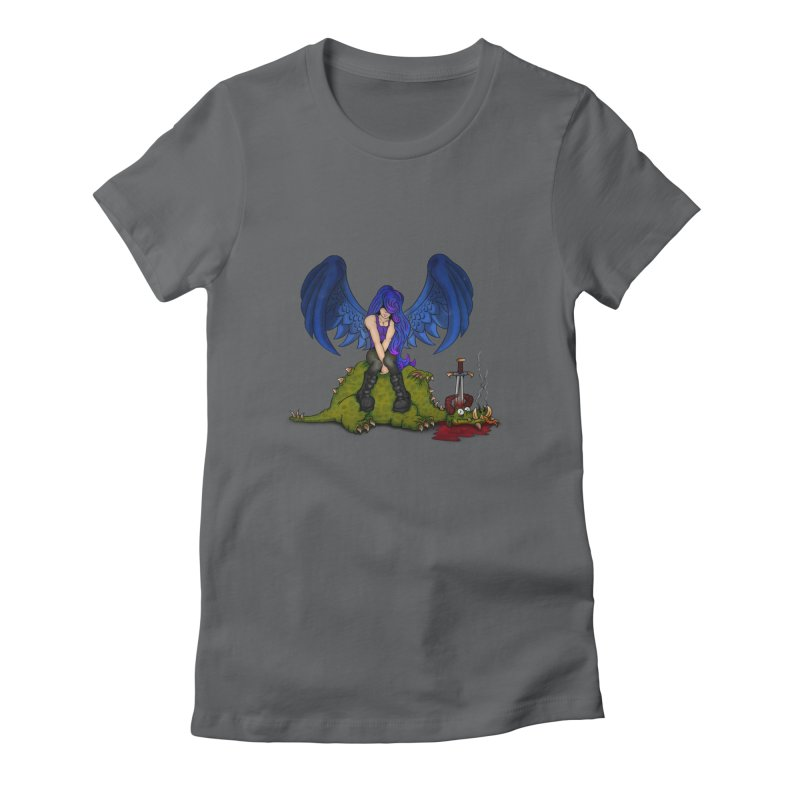 Daddy´s Little Angel Women's Fitted T-Shirt by The Last Tsunami's Artist Shop