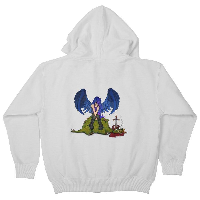 Daddy´s Little Angel Kids Zip-Up Hoody by The Last Tsunami's Artist Shop