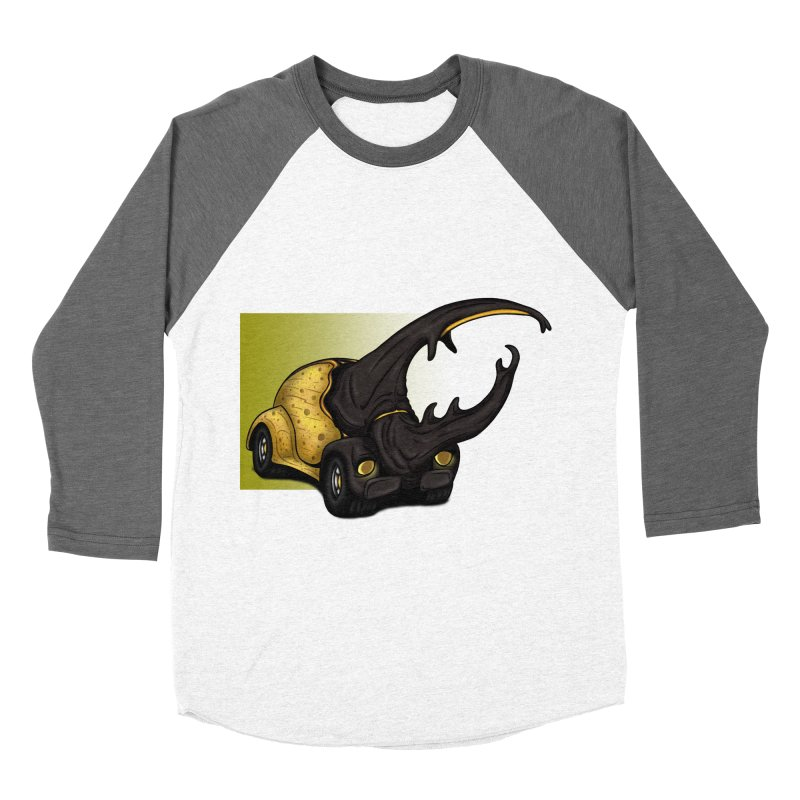 The Yellow Beetle Bug 2 Women's Baseball Triblend T-Shirt by The Last Tsunami's Artist Shop