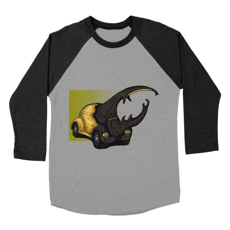 The Yellow Beetle Bug 2 Men's Baseball Triblend T-Shirt by The Last Tsunami's Artist Shop