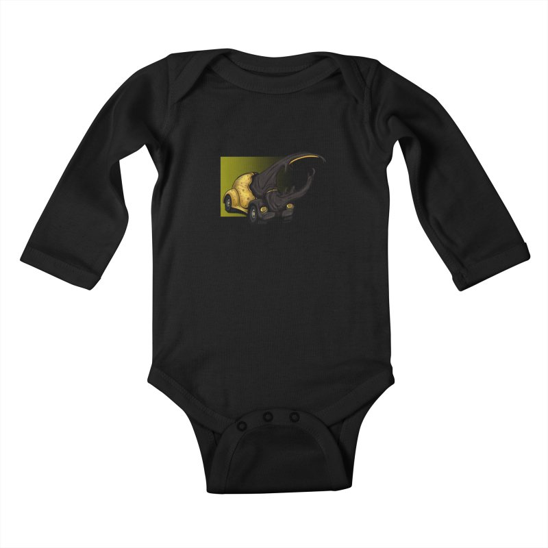 The Yellow Beetle Bug 2 Kids Baby Longsleeve Bodysuit by The Last Tsunami's Artist Shop