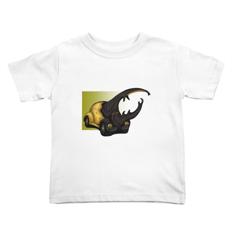The Yellow Beetle Bug 2 Kids Toddler T-Shirt by The Last Tsunami's Artist Shop