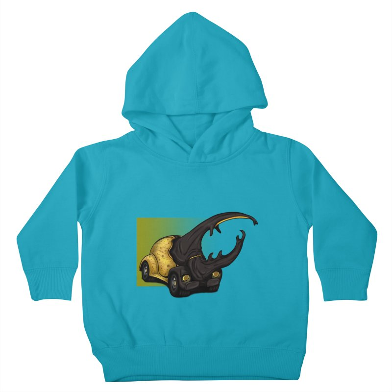 The Yellow Beetle Bug 2 Kids Toddler Pullover Hoody by The Last Tsunami's Artist Shop