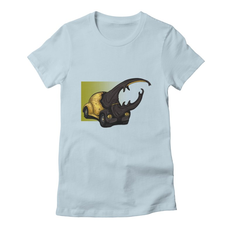 The Yellow Beetle Bug 2 Women's Fitted T-Shirt by The Last Tsunami's Artist Shop
