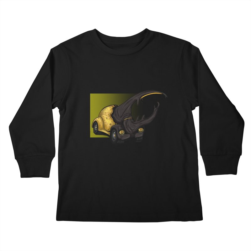 The Yellow Beetle Bug 2 Kids Longsleeve T-Shirt by The Last Tsunami's Artist Shop