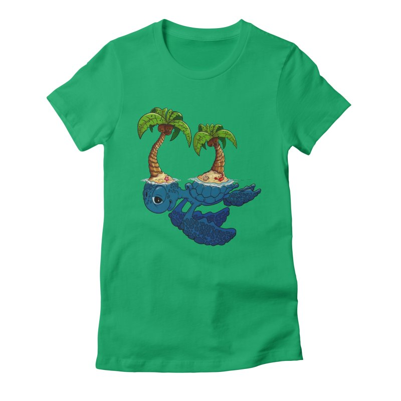 Relaxing RV 2 Women's Fitted T-Shirt by The Last Tsunami's Artist Shop