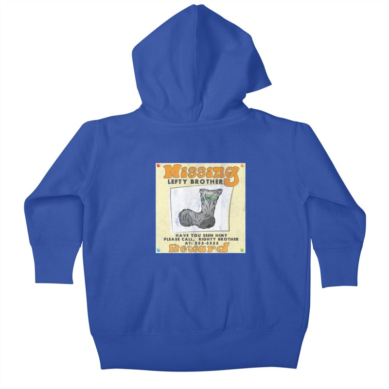 Missing Brother Kids Baby Zip-Up Hoody by The Last Tsunami's Artist Shop