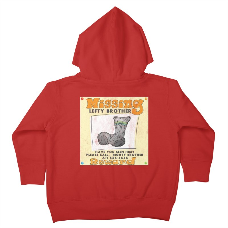 Missing Brother Kids Toddler Zip-Up Hoody by The Last Tsunami's Artist Shop