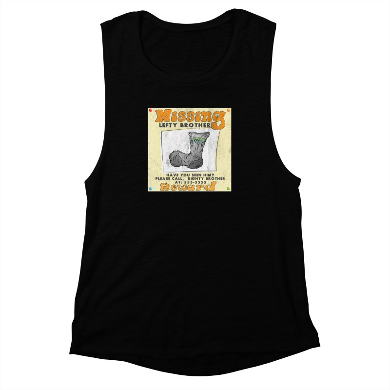Missing Brother Women's Muscle Tank by The Last Tsunami's Artist Shop