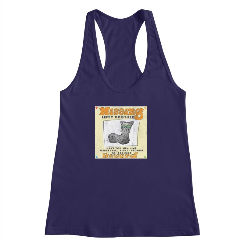 Missing Brother Women's Racerback Tank by The Last Tsunami's Artist Shop