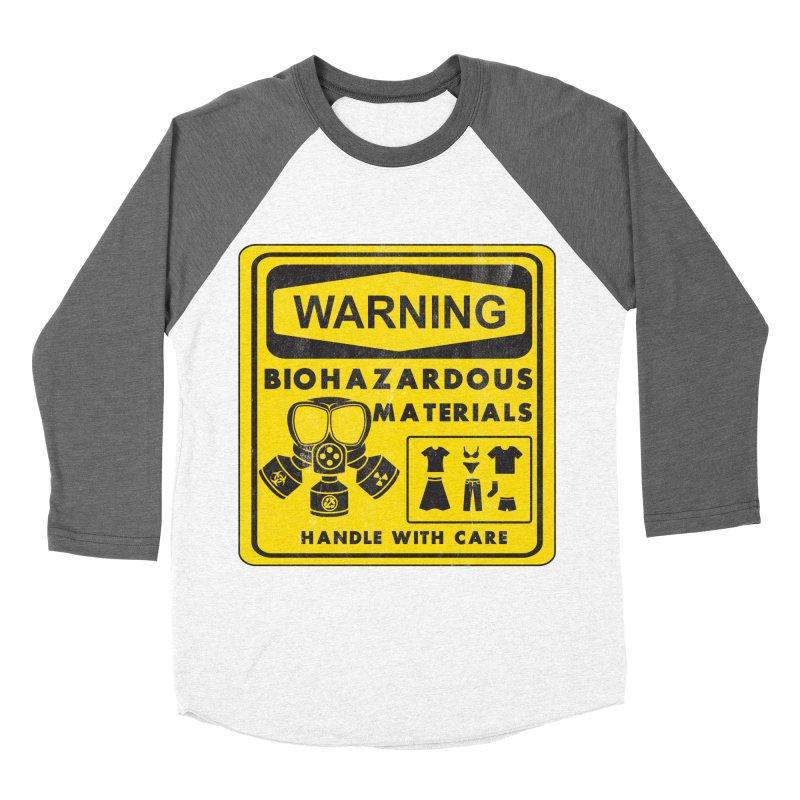 Biohazardous Materials Men's Baseball Triblend T-Shirt by The Last Tsunami's Artist Shop