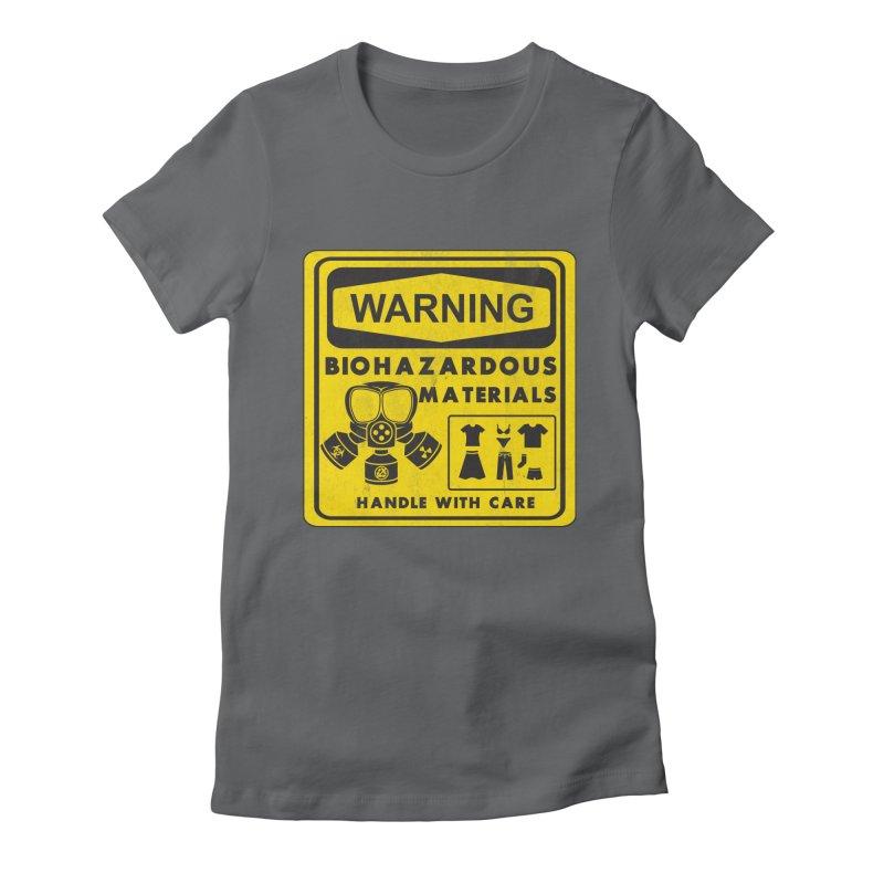Biohazardous Materials Women's Fitted T-Shirt by The Last Tsunami's Artist Shop