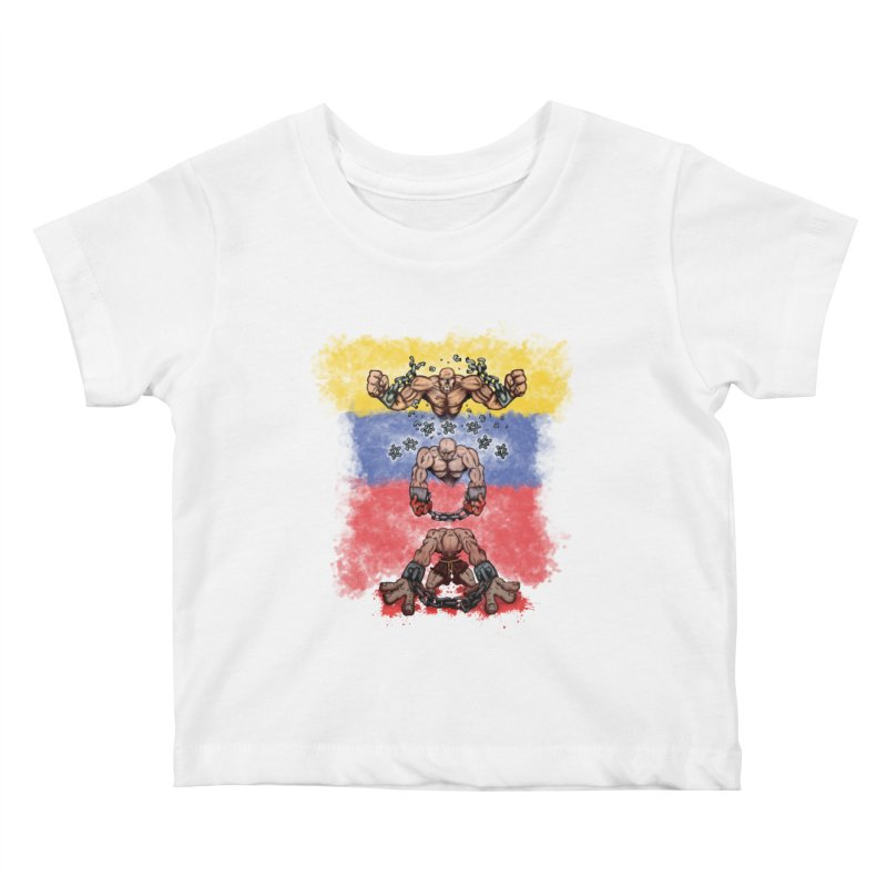 Ya  hala - Abajo Cadenas Kids Baby T-Shirt by The Last Tsunami's Artist Shop